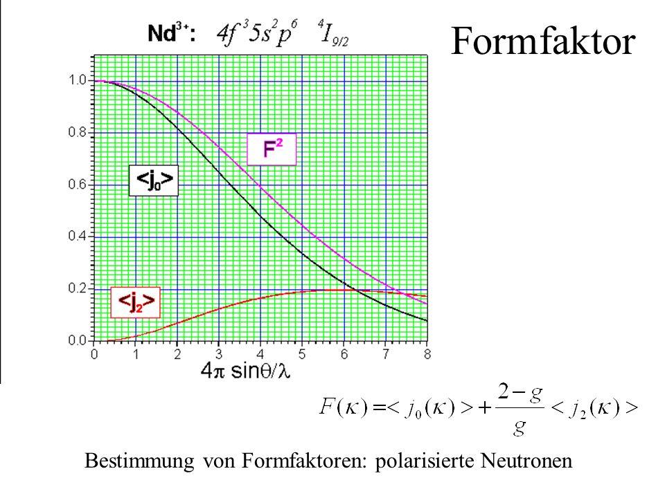 Bestimmung von Formfaktoren: polarisierte Neutronen Formfaktor