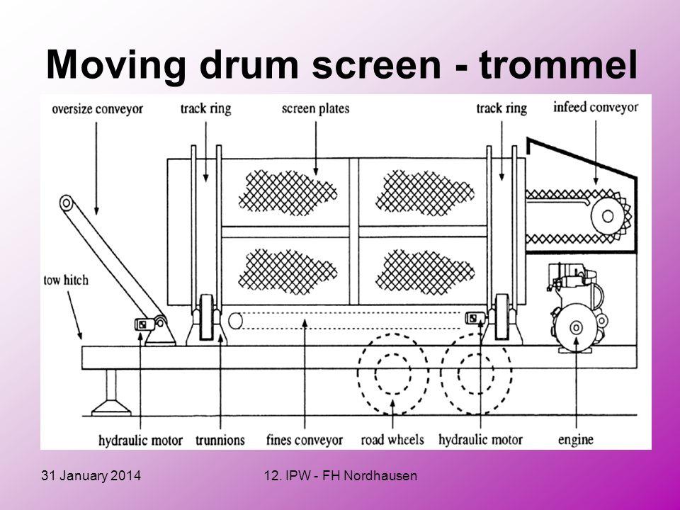 31 January 201412. IPW - FH Nordhausen Moving drum screen - trommel