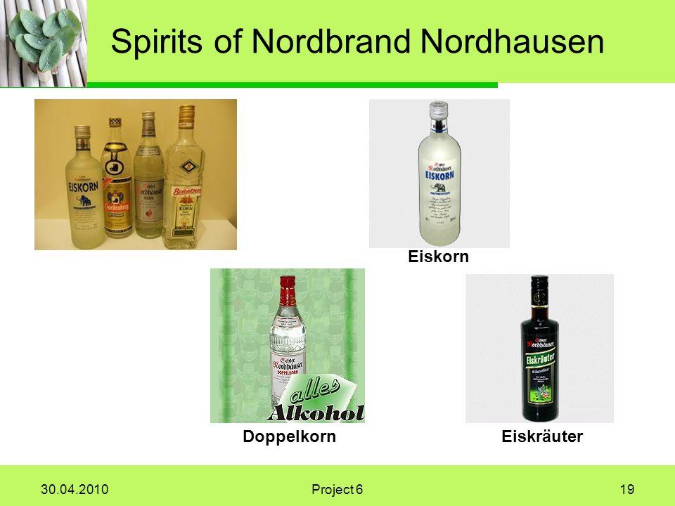 30.04.2010Project 619 Spirits of Nordbrand Nordhausen Eiskorn EiskräuterDoppelkorn