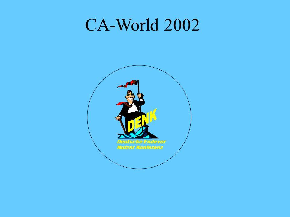 CA-World 2002 Deutsche Endevor Nutzer Konferenz