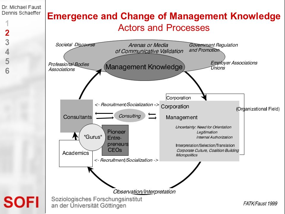 Emergence and Change of Management Knowledge Actors and Processes 123456123456
