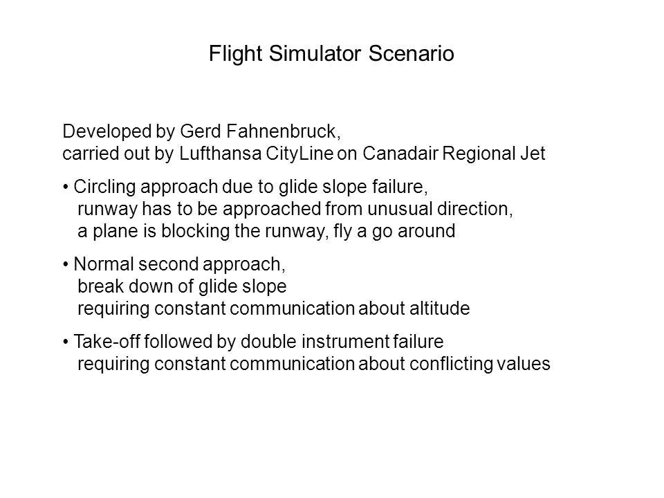 Flight Simulator Scenario Developed by Gerd Fahnenbruck, carried out by Lufthansa CityLine on Canadair Regional Jet Circling approach due to glide slo