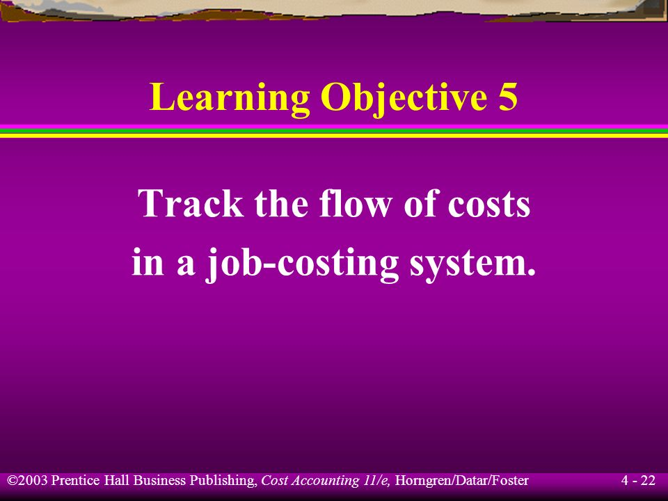 ©2003 Prentice Hall Business Publishing, Cost Accounting 11/e, Horngren/Datar/Foster 4 - 21 Normal Costing What is the cost of Job 650 under normal co