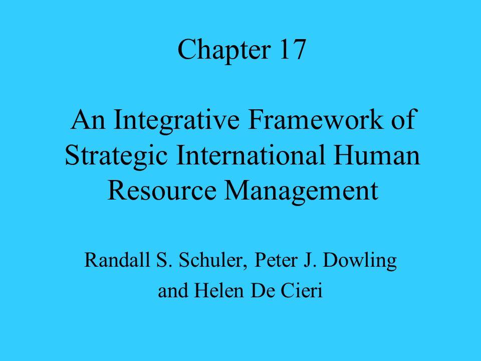 Chapter 17 An Integrative Framework of Strategic International Human Resource Management Randall S. Schuler, Peter J. Dowling and Helen De Cieri