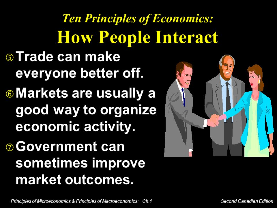 Principles of Microeconomics & Principles of Macroeconomics: Ch.1 Second Canadian Edition Ten Principles of Economics: How People Interact Trade can m