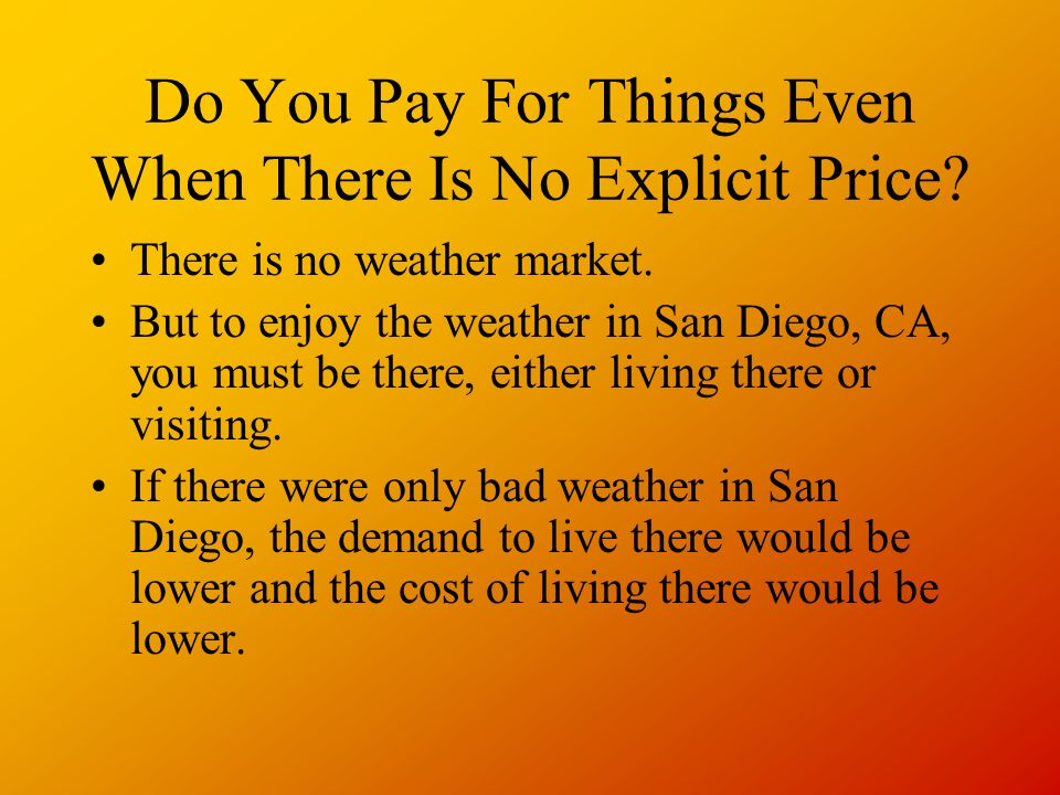 Do You Pay For Things Even When There Is No Explicit Price.