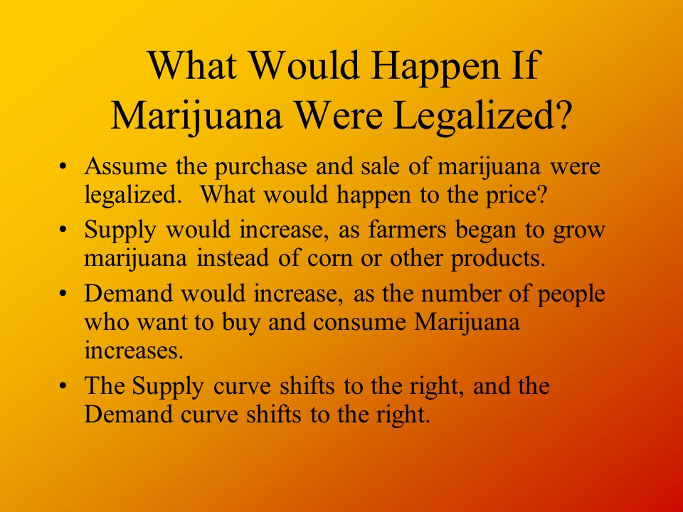 What Would Happen If Marijuana Were Legalized.