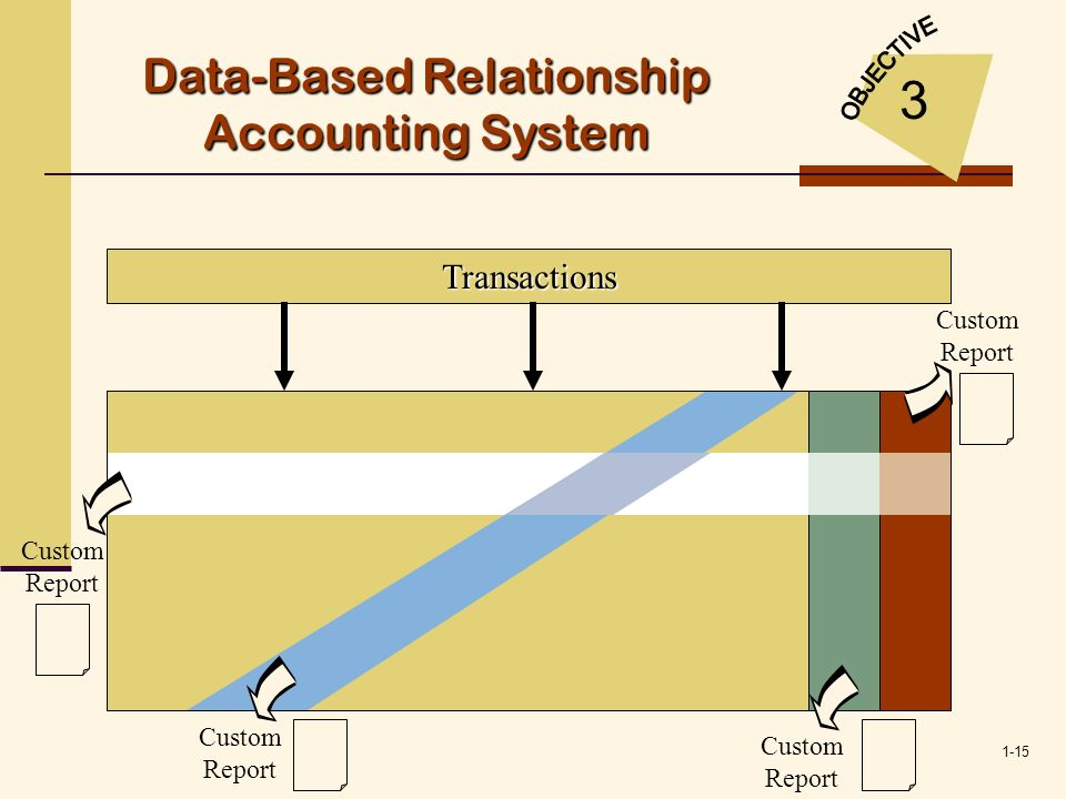 1-15 Transactions Custom Report Data-Based Relationship Accounting System 3