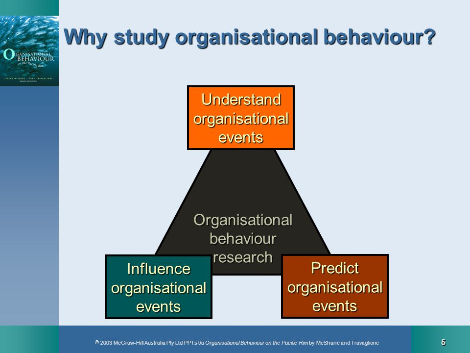 2003 McGraw-Hill Australia Pty Ltd PPTs t/a Organisational Behaviour on the Pacific Rim by McShane and Travaglione 5 Organisationalbehaviourresearch U