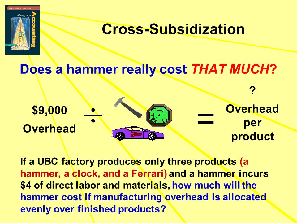 Does a hammer really cost THAT MUCH? If a UBC factory produces only three products (a hammer, a clock, and a Ferrari) and a hammer incurs $4 of direct