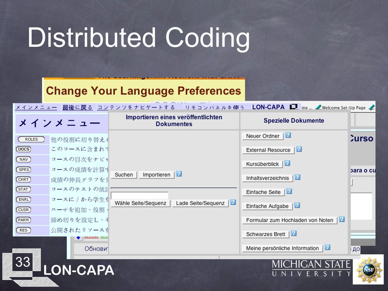 LON-CAPA 33 Distributed Coding