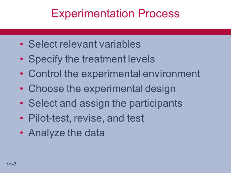 14-8 Ways to Assign Subjects Random Assignment Matching Assignment –Quota matrix