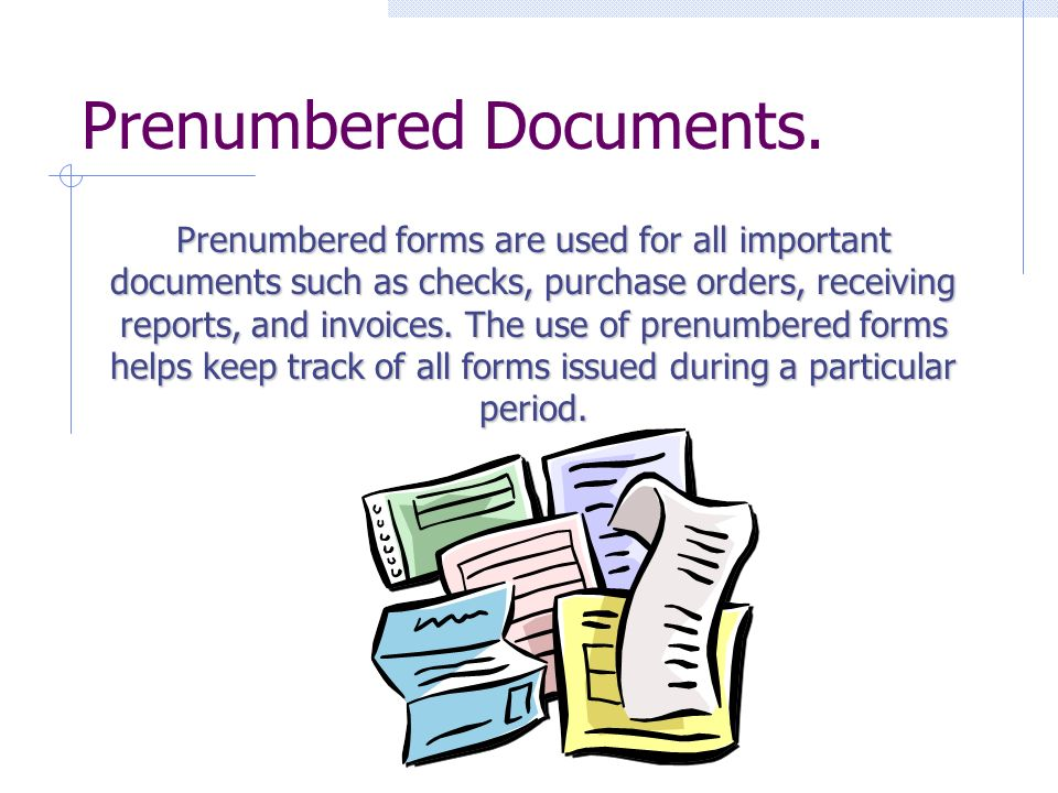 Prenumbered Documents.