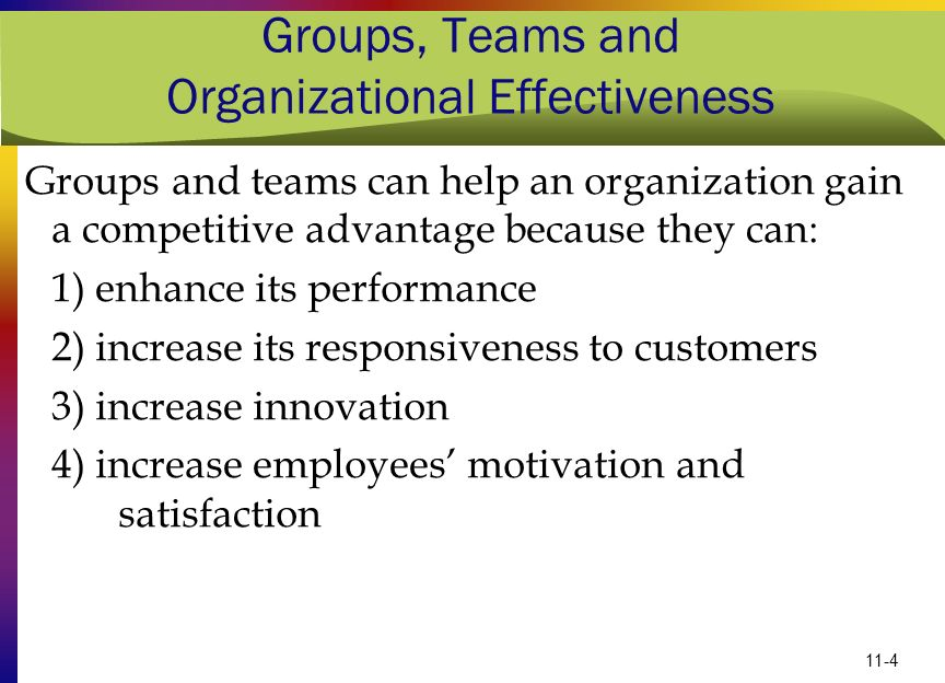 "Presentation ""11-1 Groups, Teams and Organizational Effectiveness ..."