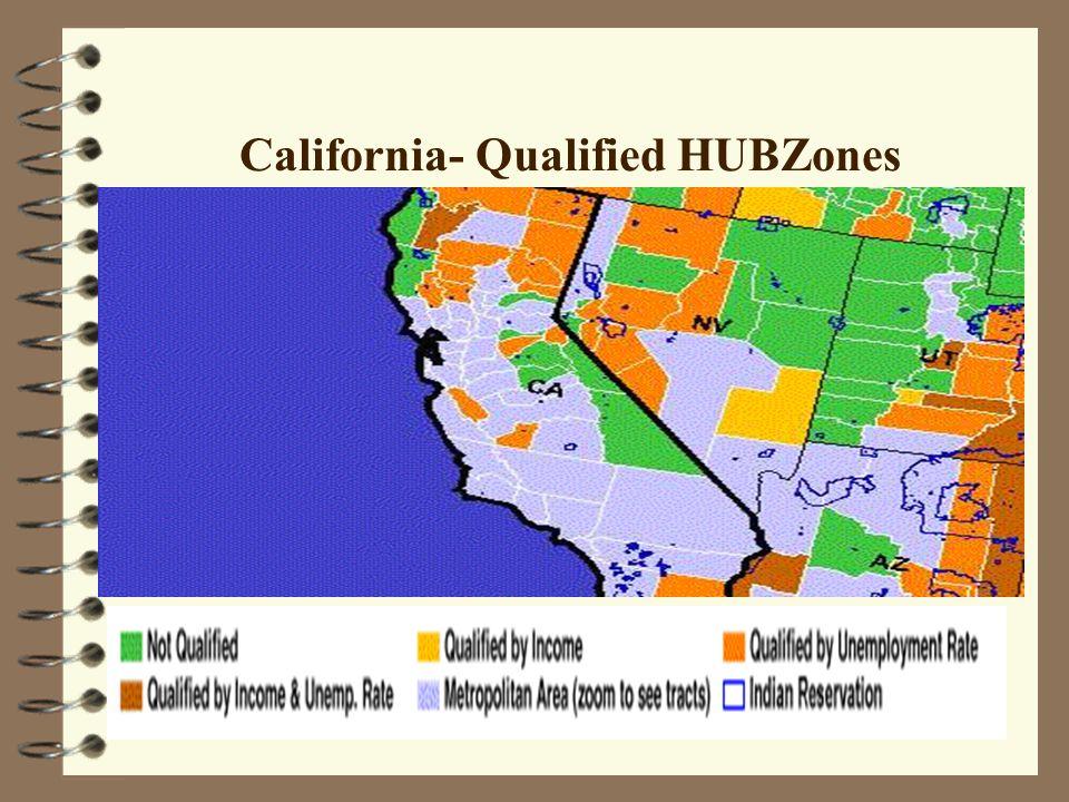 California- Qualified HUBZones