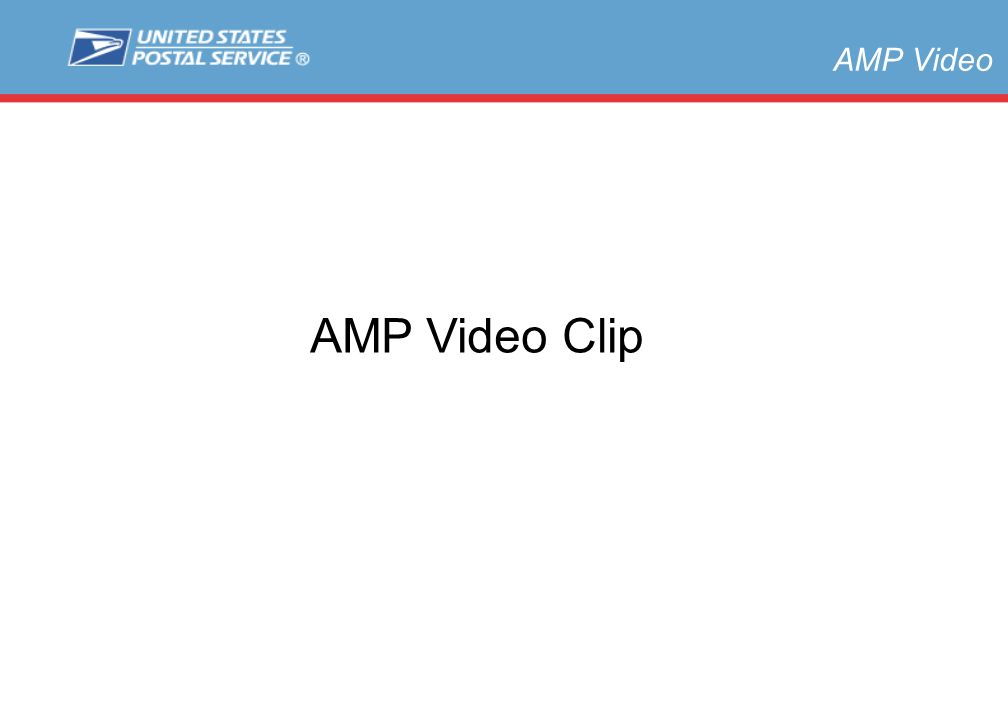 Slide 3 AMP Video AMP Video Clip