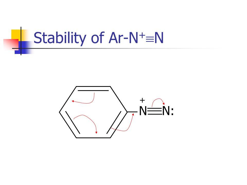 Stability of Ar-N + N N N: +