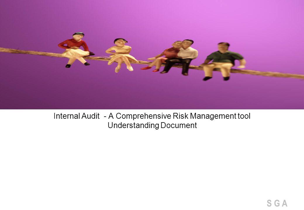 S G A Internal Audit - A Comprehensive Risk Management tool Understanding Document