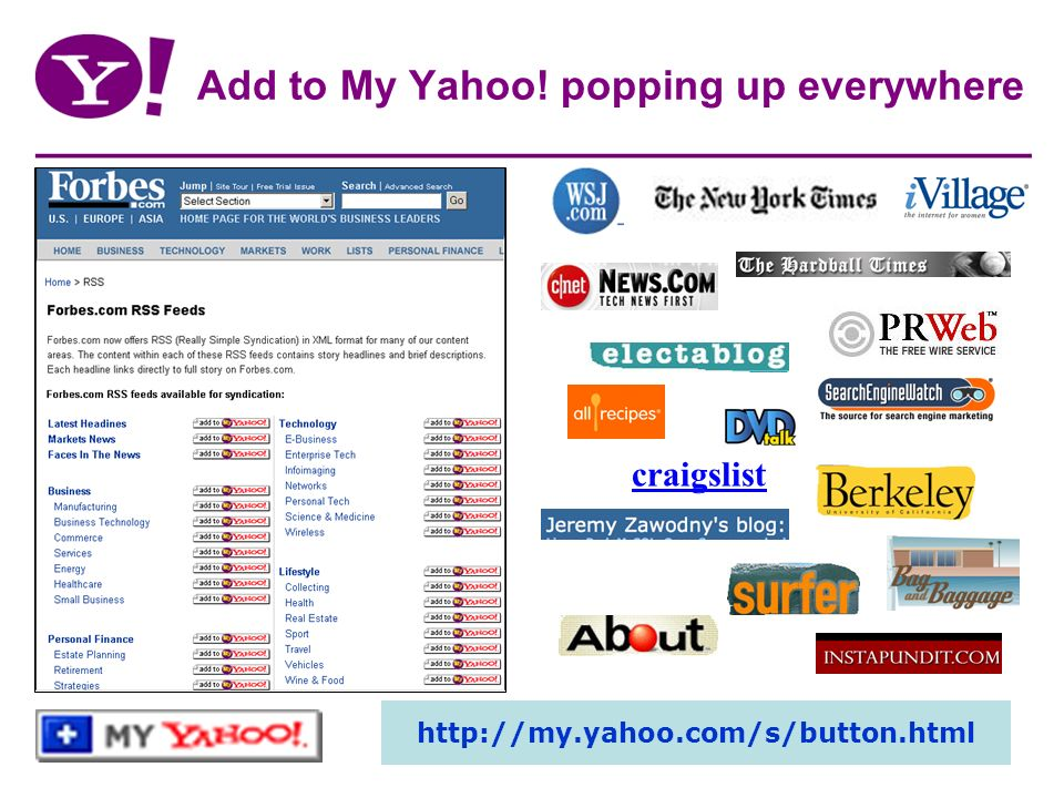 Add to My Yahoo! popping up everywhere craigslist http://my.yahoo.com/s/button.html