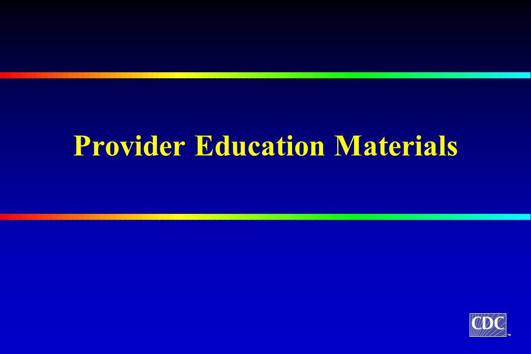 TM Provider Education Materials