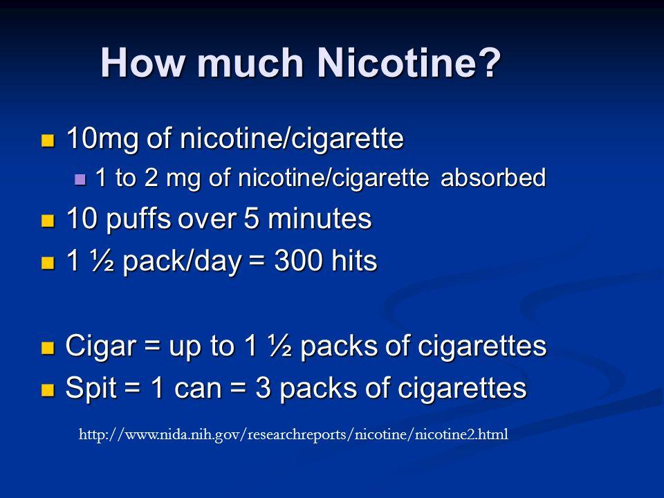 How much Nicotine.