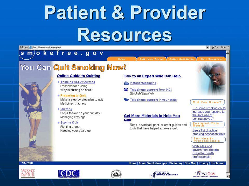 Patient & Provider Resources