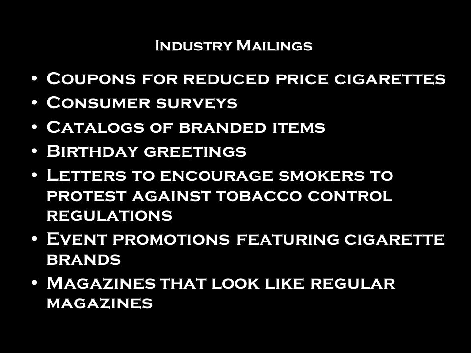 Letters from America Letters featured in this slide show were found in the tobacco companies formerly secret documents that were made public after the 1998 Master Settlement Agreement between the tobacco industry and states attorneys general.