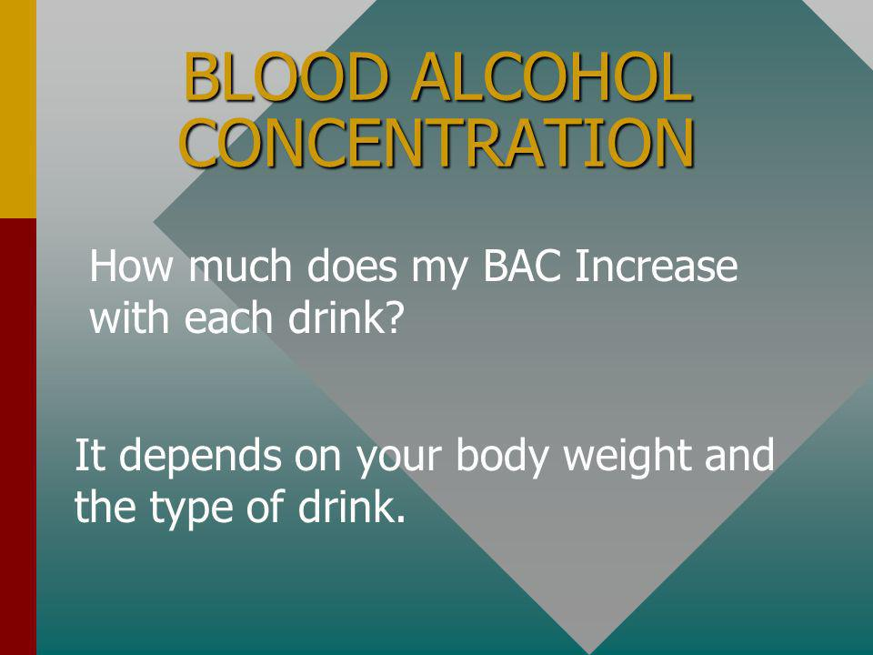 BLOOD ALCOHOL CONCENTRATION What does it mean.