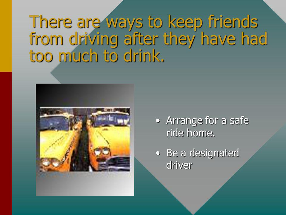 Intervention TheThe responsibility for keeping a drinker from driving belongs to everyone.