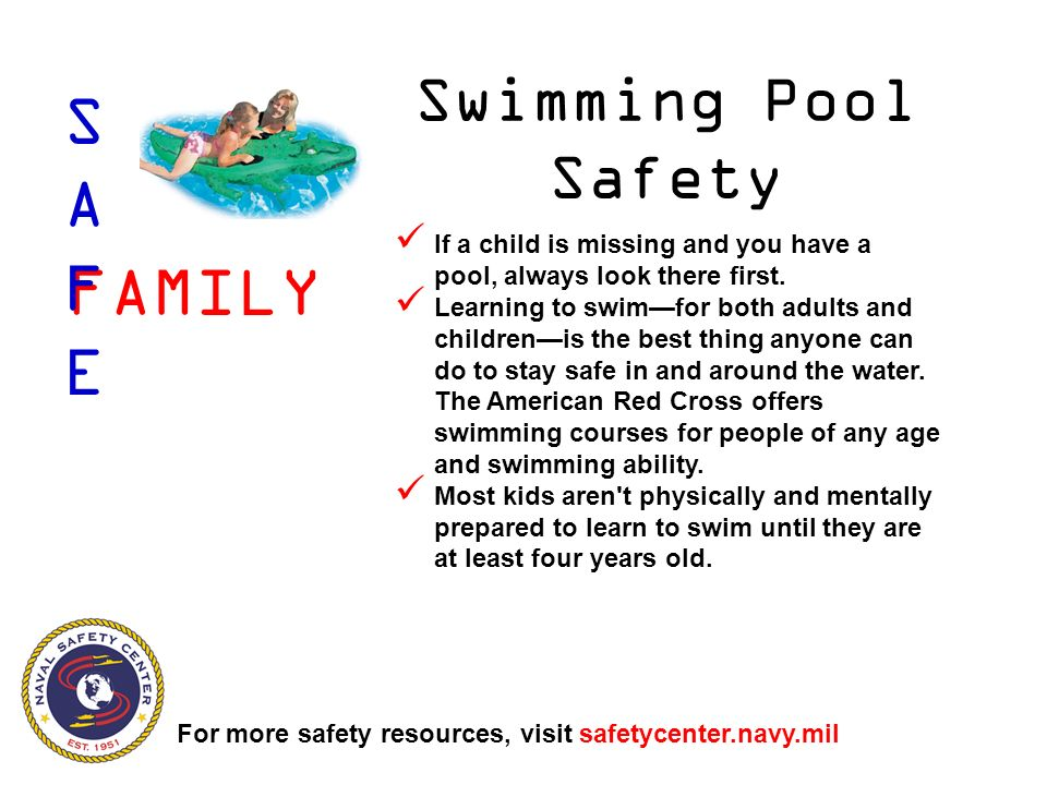 If a child is missing and you have a pool, always look there first.