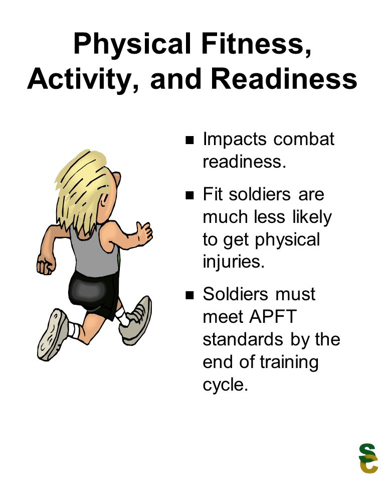 Physical Fitness, Activity, and Readiness Impacts combat readiness.