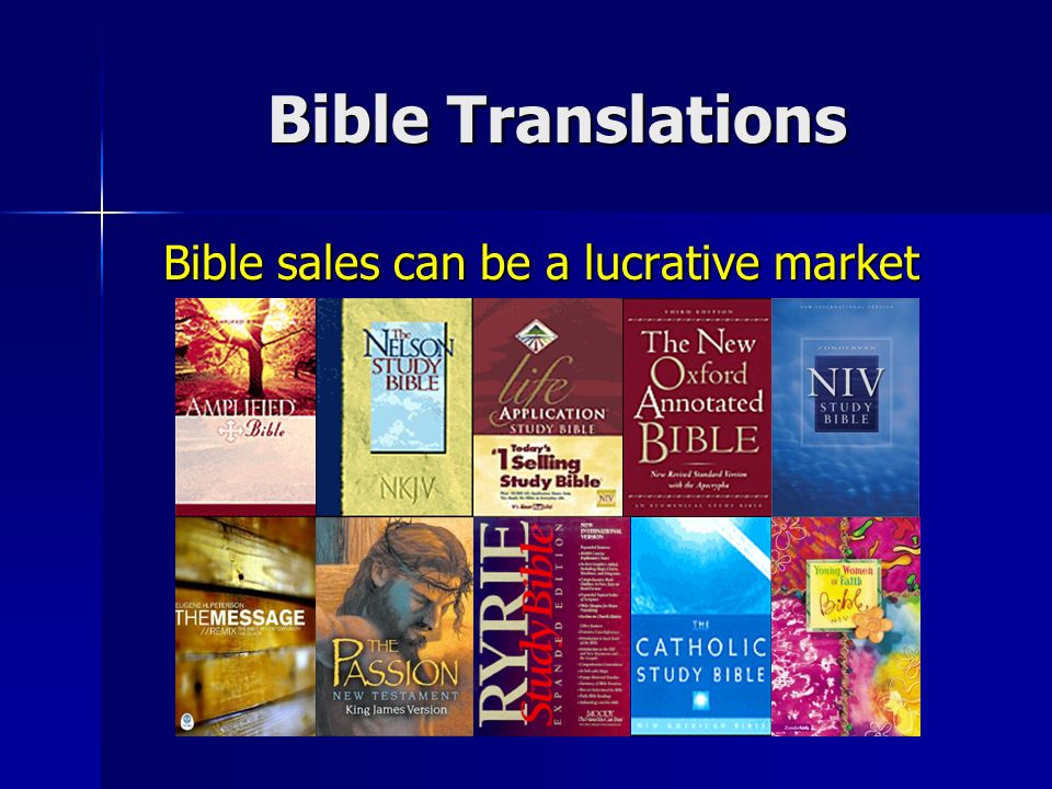Bible sales can be a lucrative market Bible sales can be a lucrative market