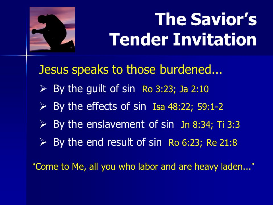 Jesus speaks to those burdened...