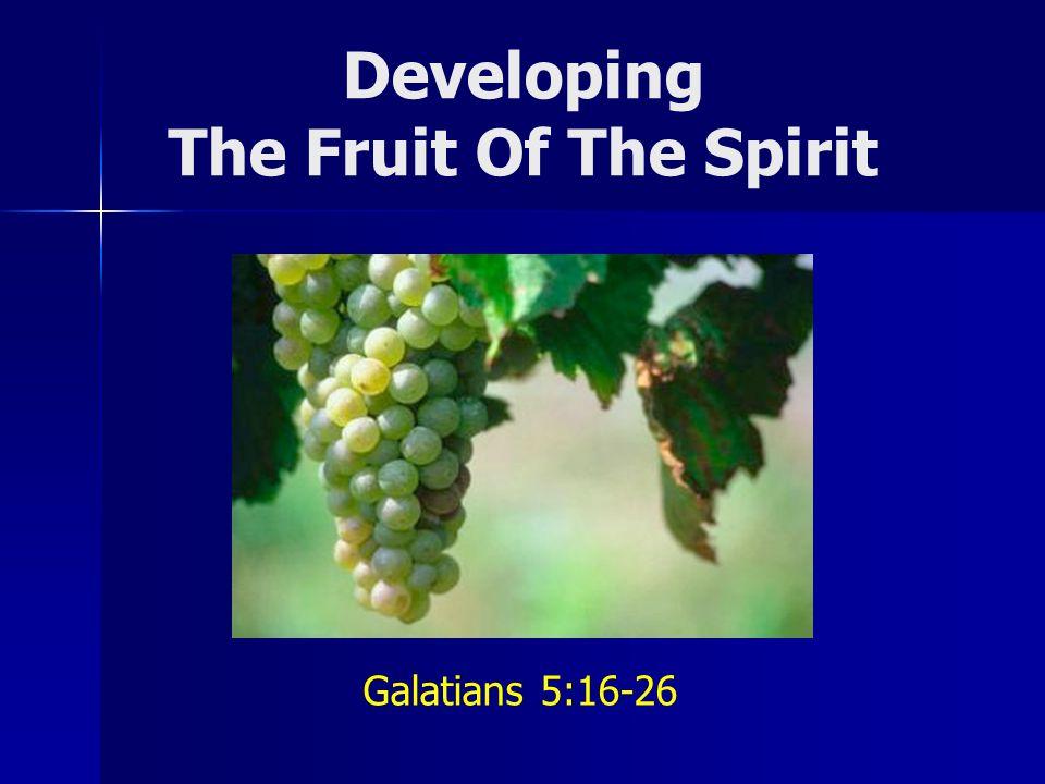 Developing The Fruit Of The Spirit Galatians 5:16-26