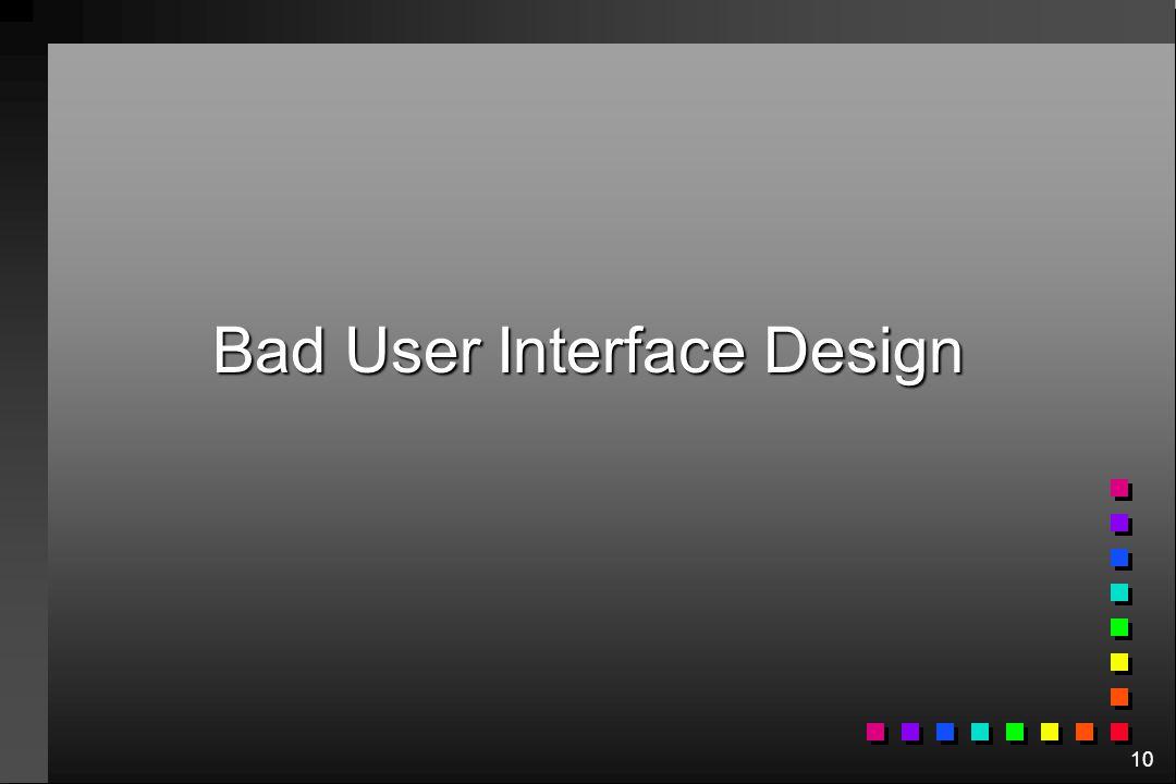 10 Bad User Interface Design