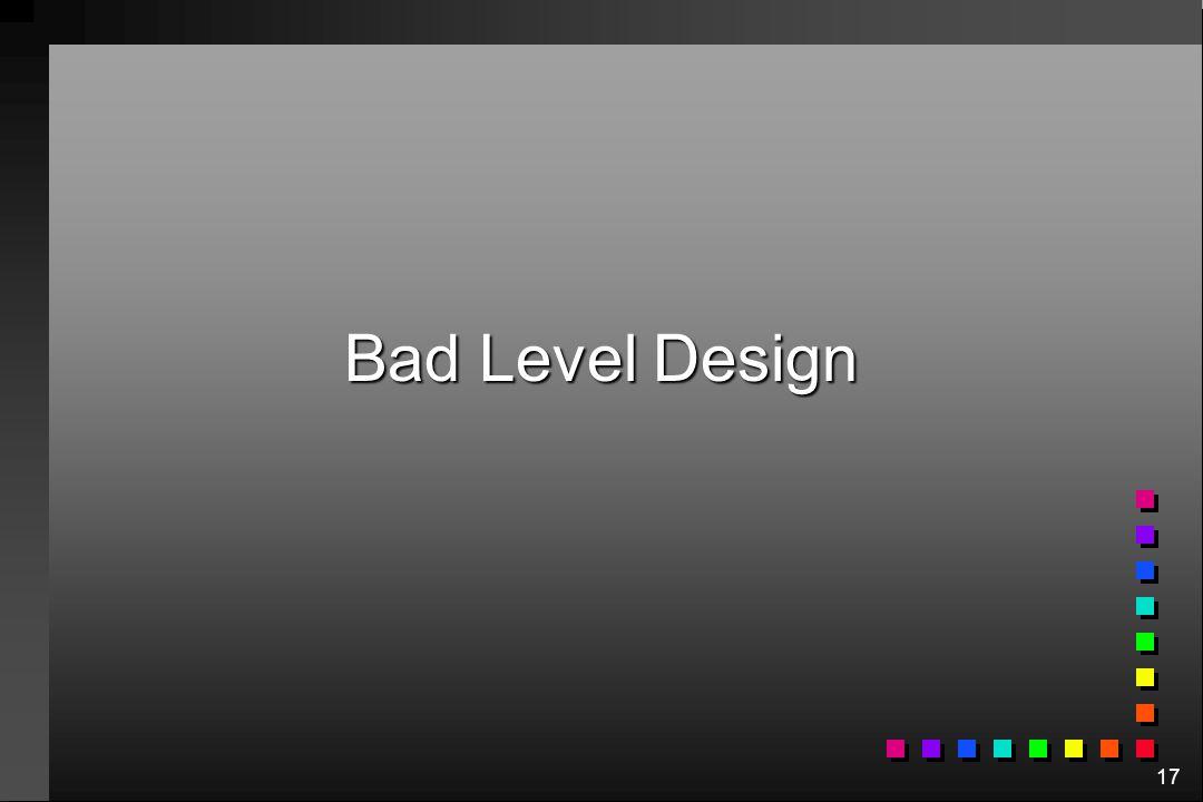 17 Bad Level Design