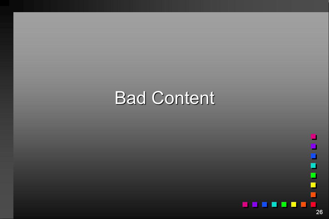 26 Bad Content