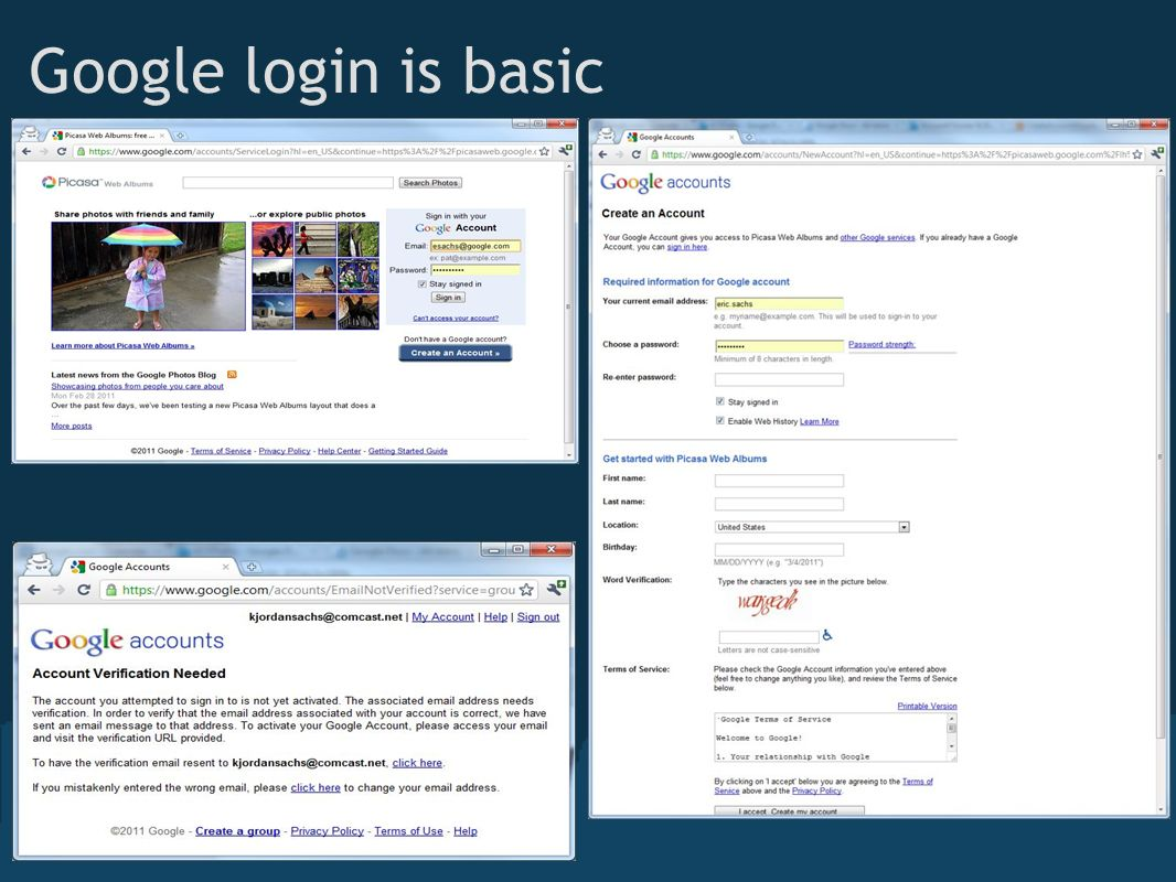 Google login is basic