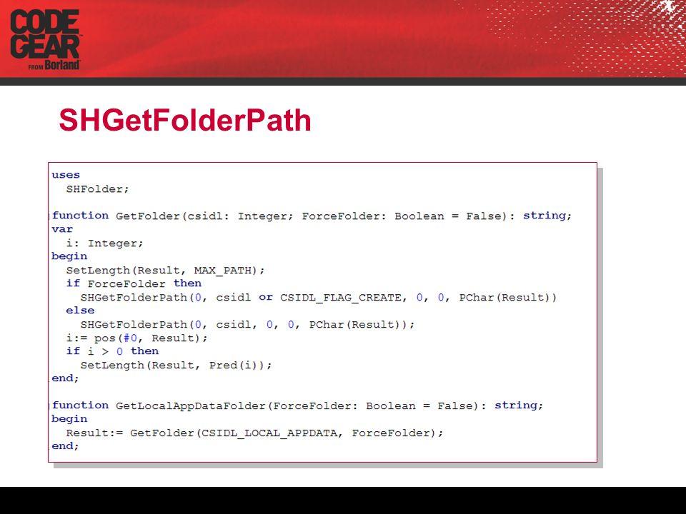 SHGetFolderPath