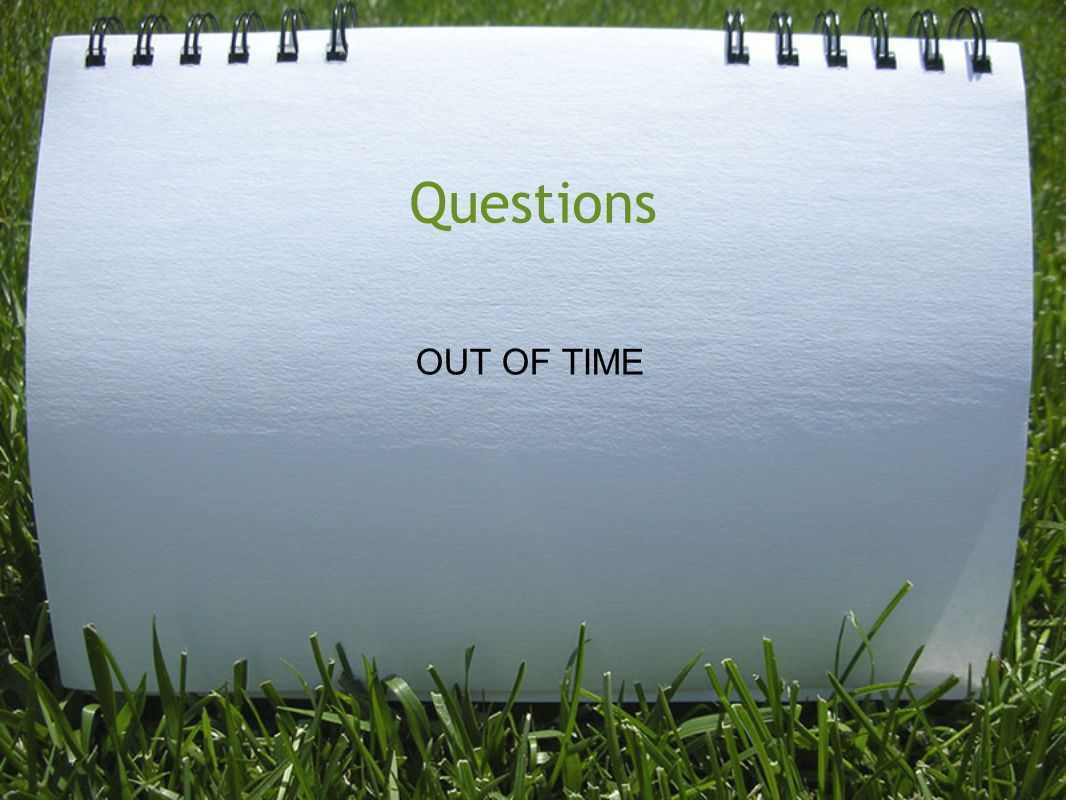 Questions OUT OF TIME