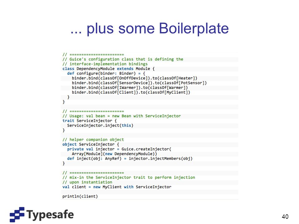 ... plus some Boilerplate 40