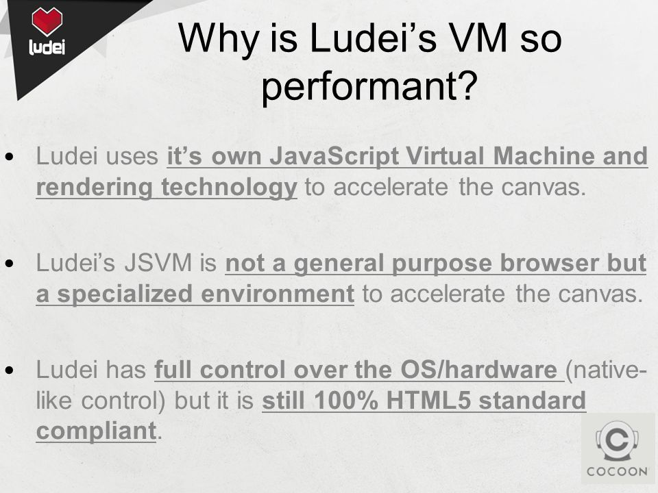 Why is Ludeis VM so performant.