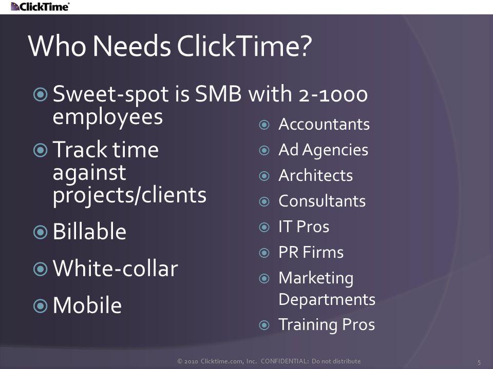 Who Uses ClickTime.© 2010 Clicktime.com, Inc.