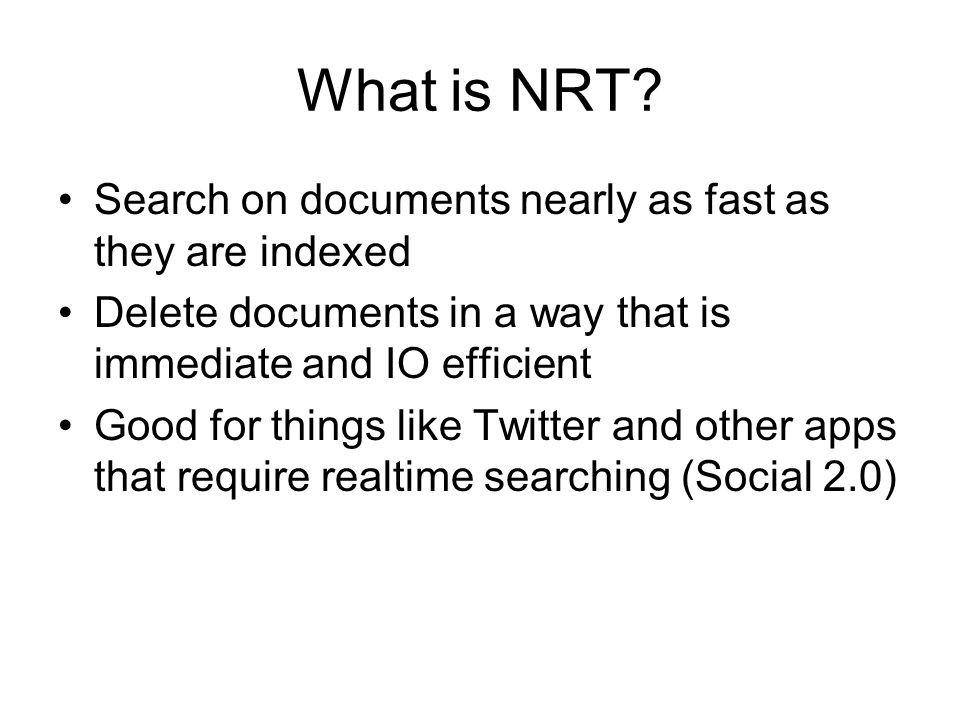 What is NRT.