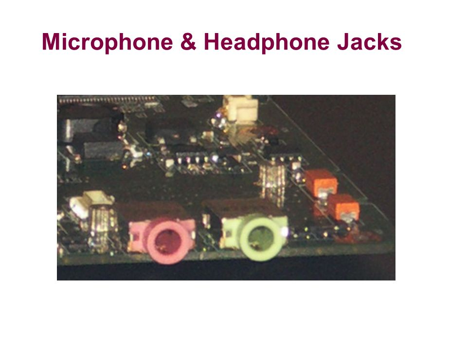 Microphone & Headphone Jacks