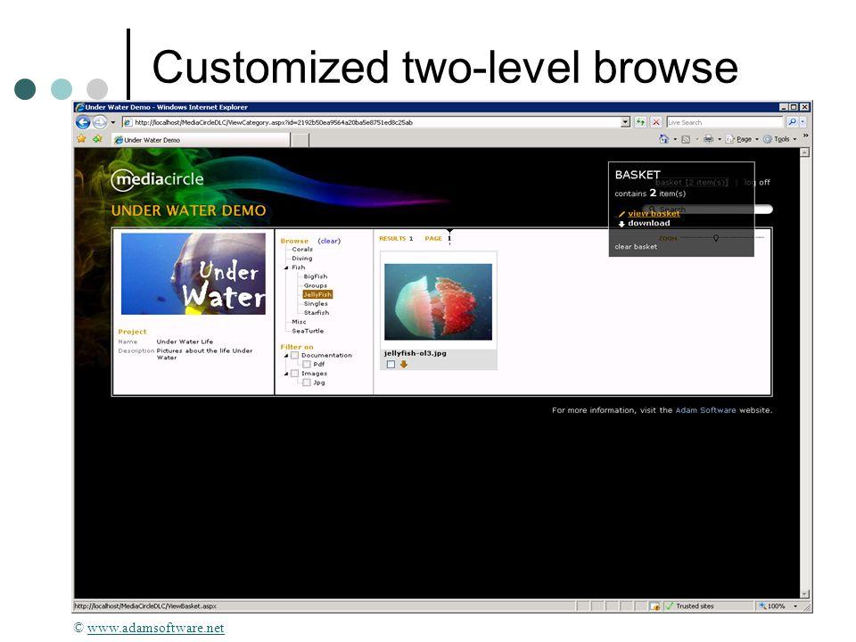 © 2010 Donna Slawsky Customized two-level browse © www.adamsoftware.netwww.adamsoftware.net