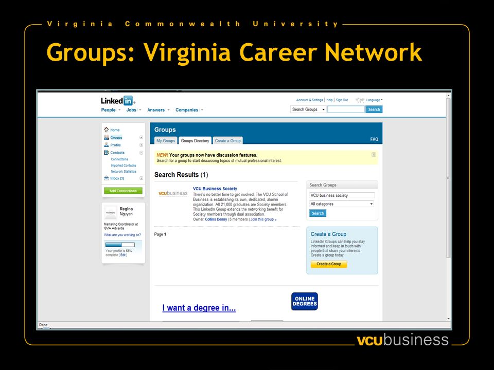 Groups: Virginia Career Network