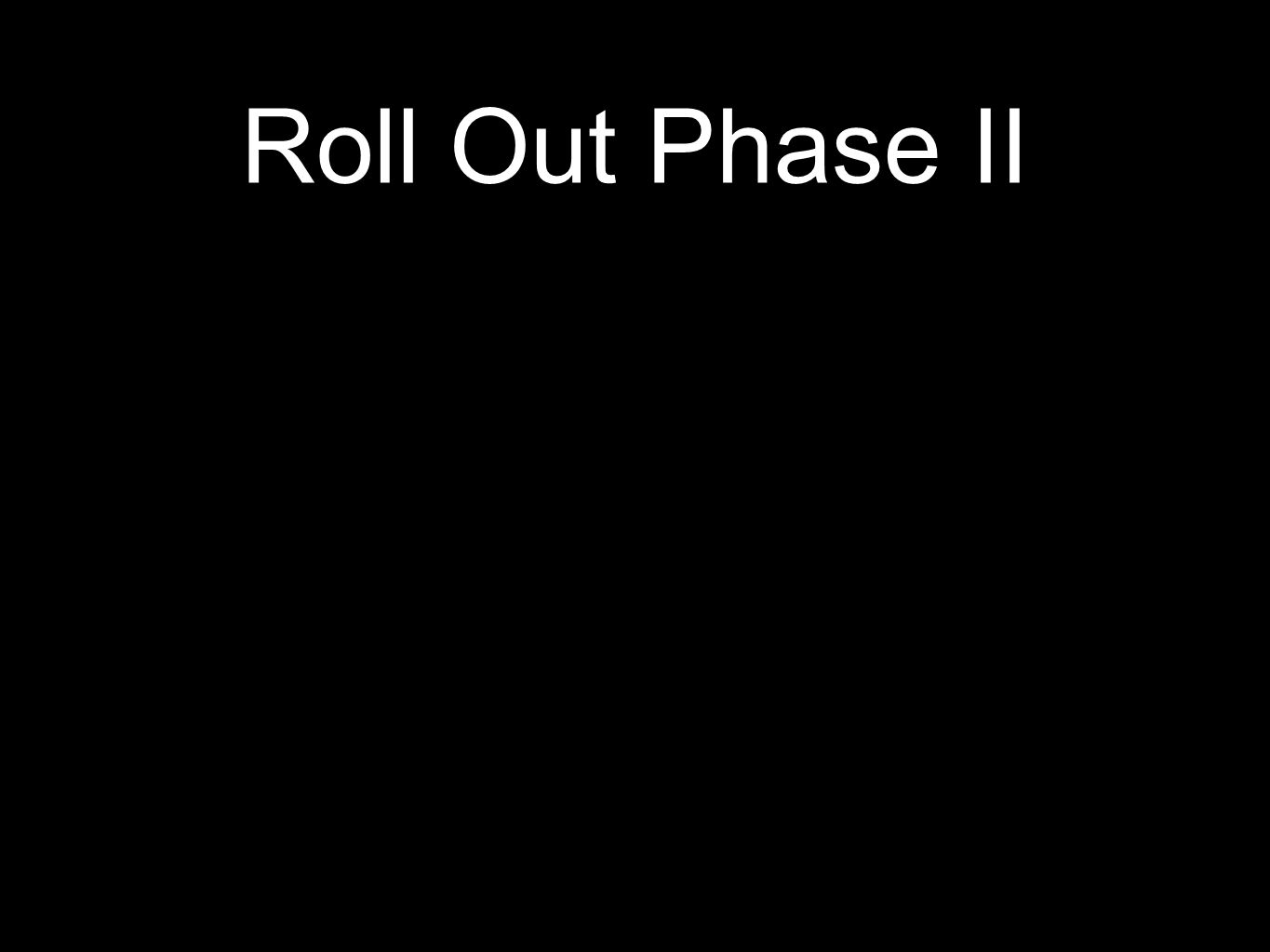 Roll Out Phase II