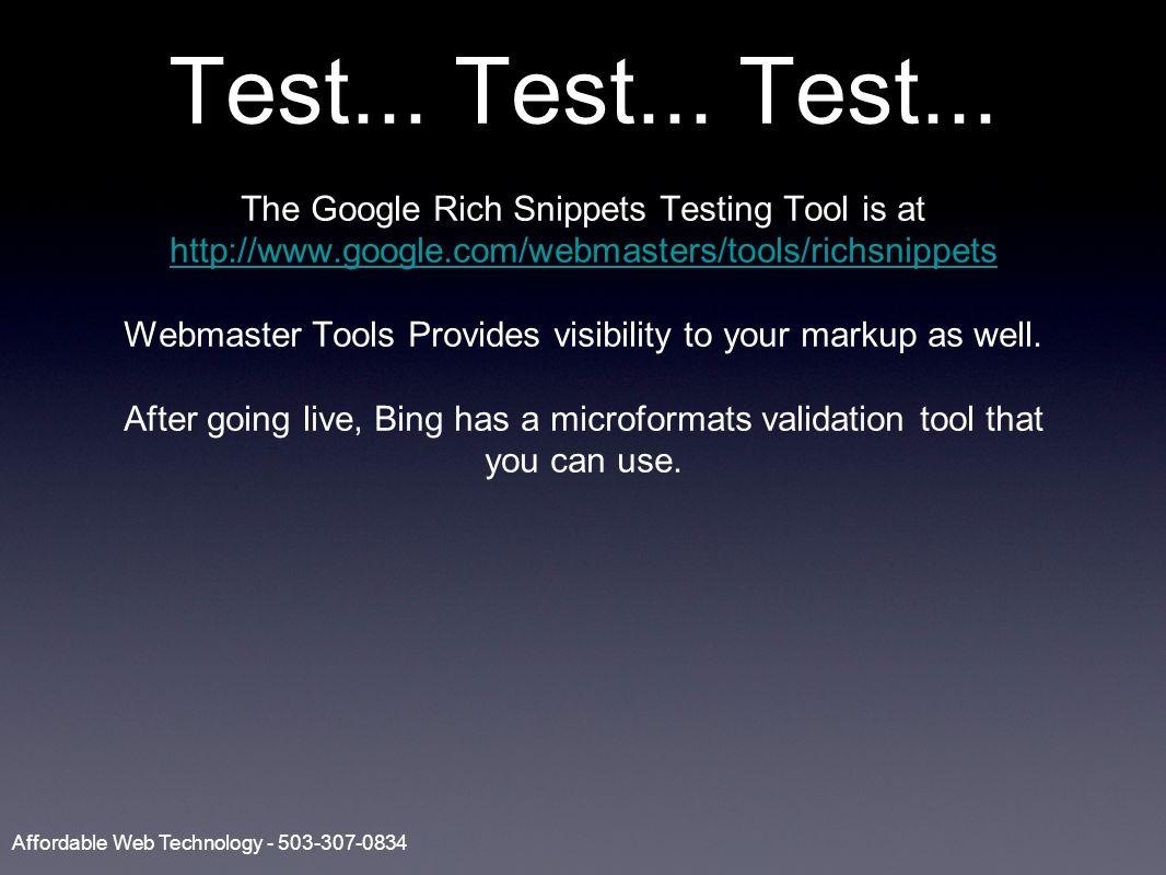 Test... Test... Test...