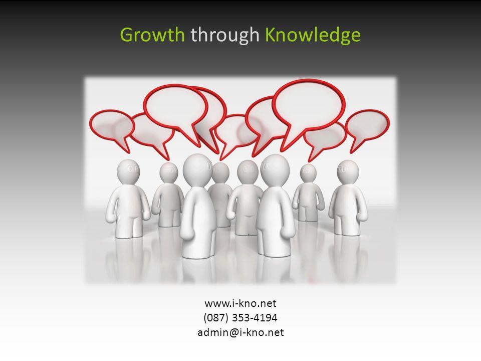 www.i-kno.net (087) 353-4194 admin@i-kno.net